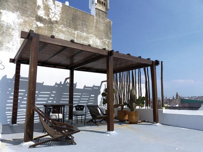 L'une des 3 terrasses du riad Azahra à Rabat