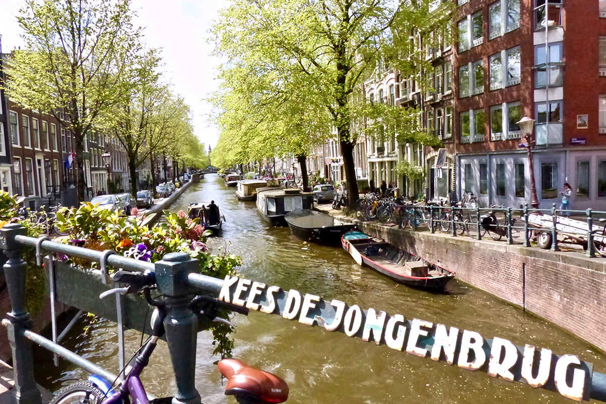 Canaux Amsterdam velo