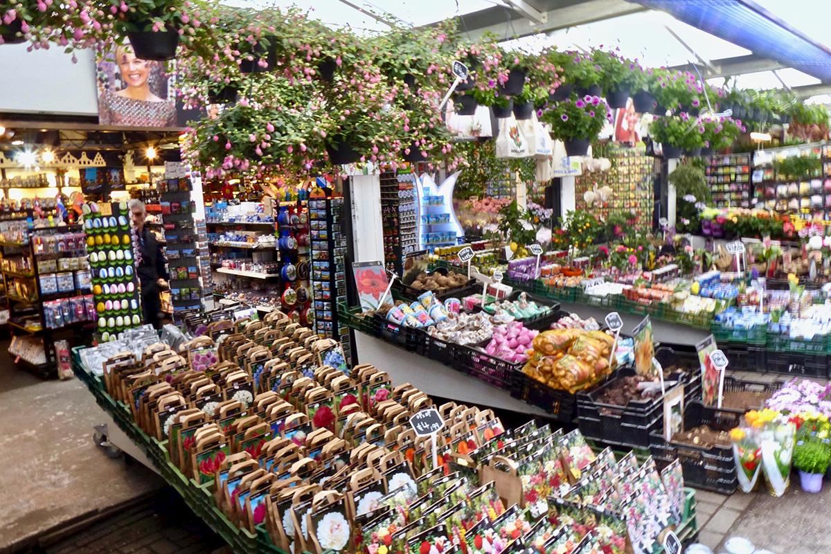 Magasin fleurs Amsterdam velo