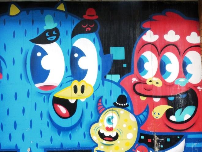 L'une des nombreuses oeuvres de street art de Bue The Warrior à Gand