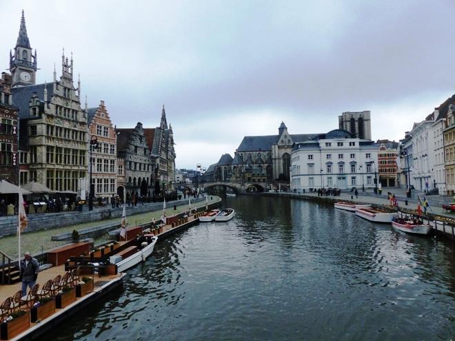 Vue sur le centre historique de Gand