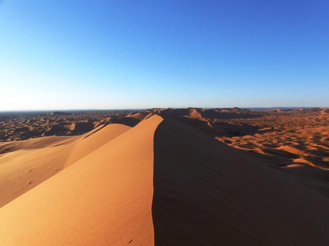 Le désert de Merzouga au Maroc