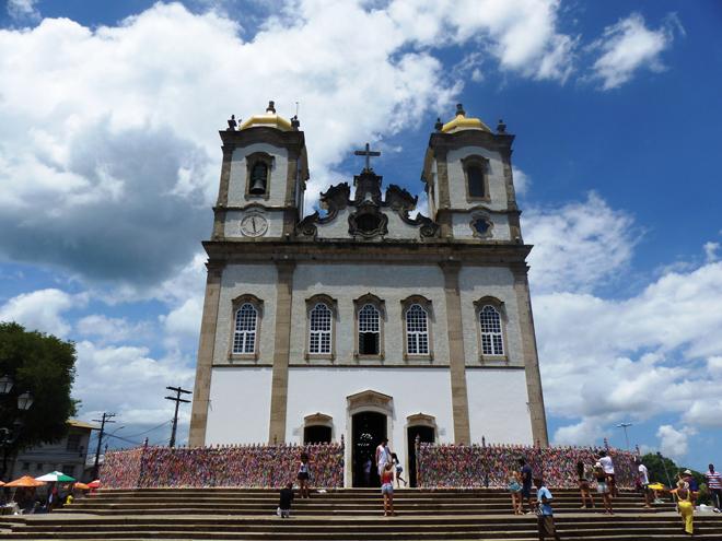 La fameuse église de Bonfim à Salvador de Bahia