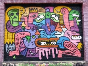 Une très belle oeuvre de street art dans les rues de Gand