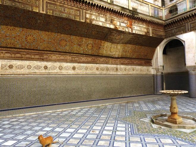 Une des nombreuses pièces du palais al-Glaoui à Fès