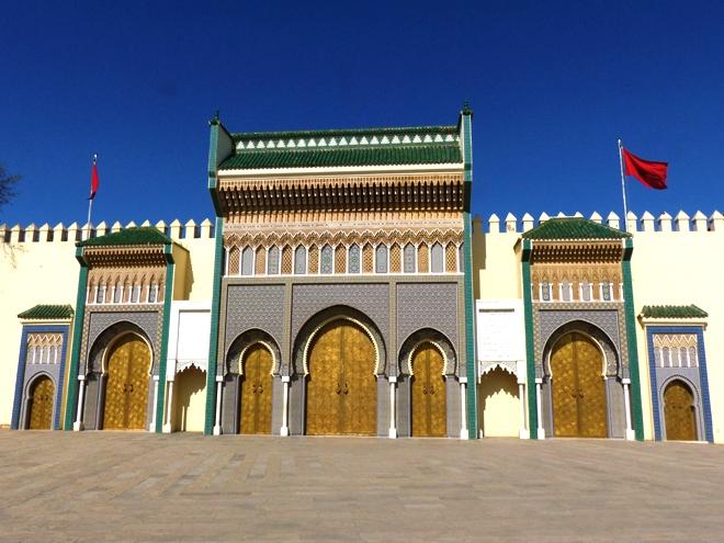 L'entrée du palais royal de Fès