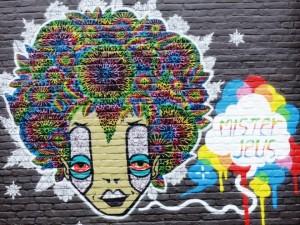 Une oeuvre originale de street art dans les rues de Gand