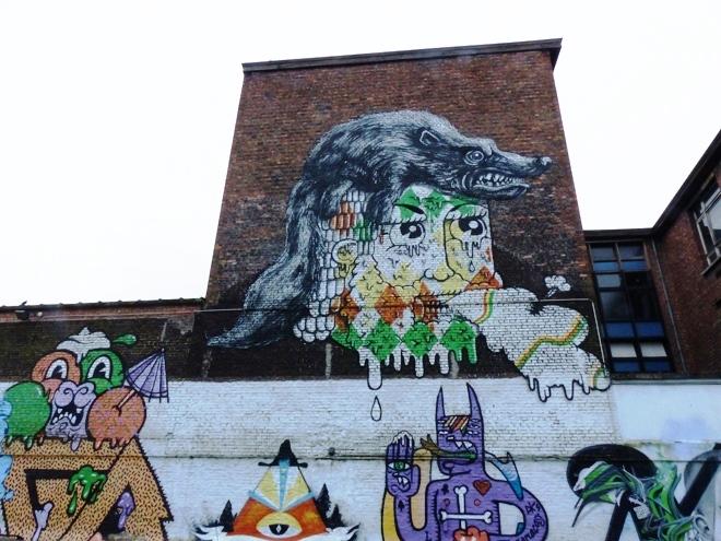 L'une des oeuvres majeurs sur le parking Brandweerstraat à Gand