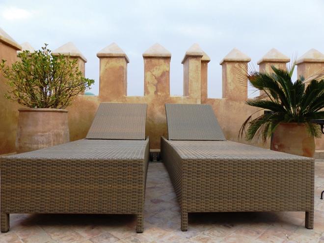 La terrasse du Riad Adarissa dans le coeur de la médina de Fès