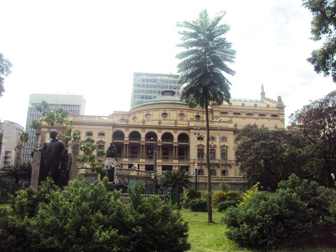 Le théatre municipal de Sao Paulo