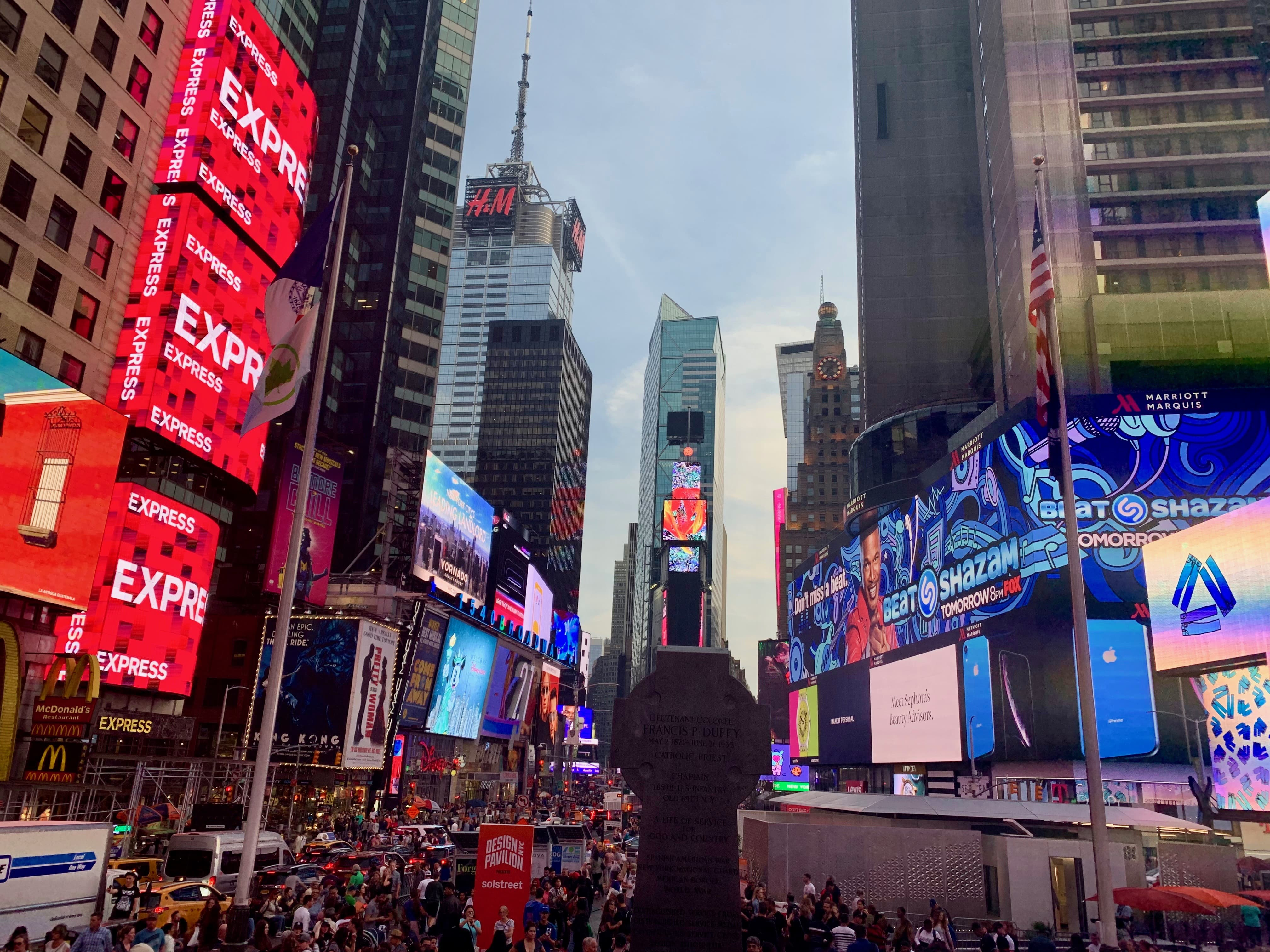 Times Square en fin de soiree