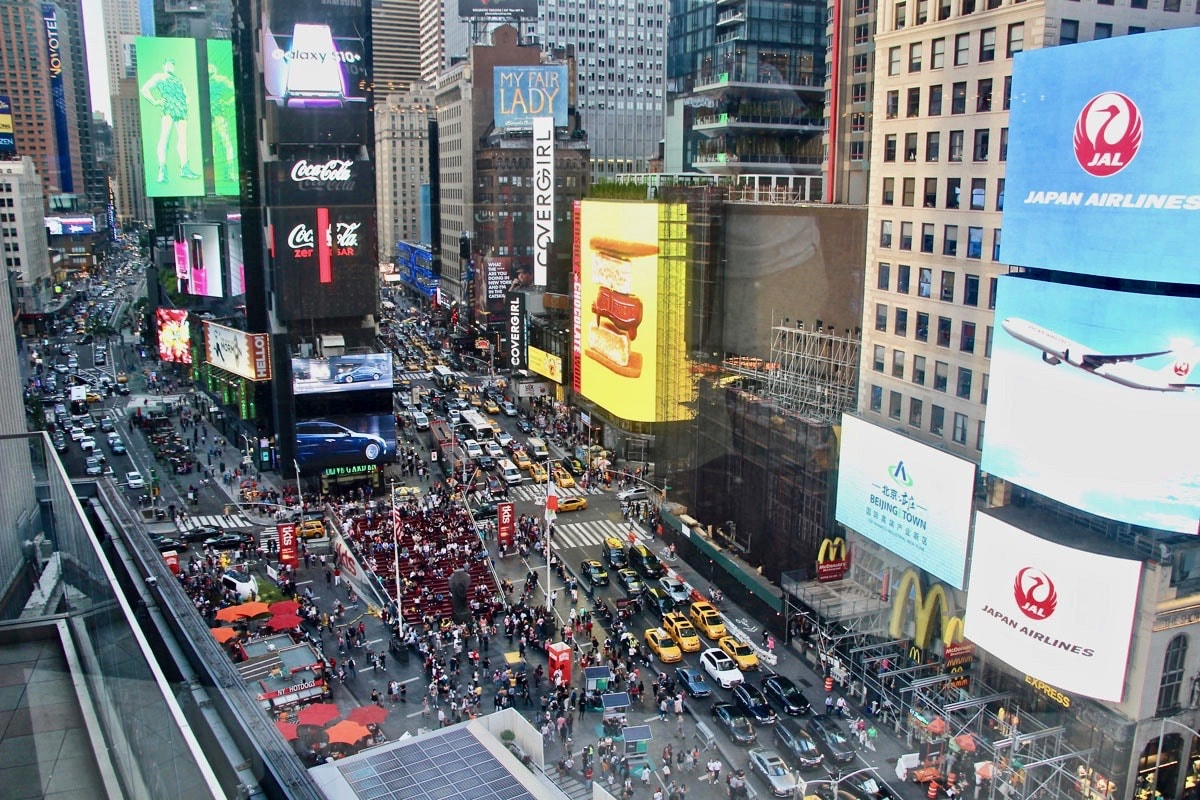 Vue sur Times Square