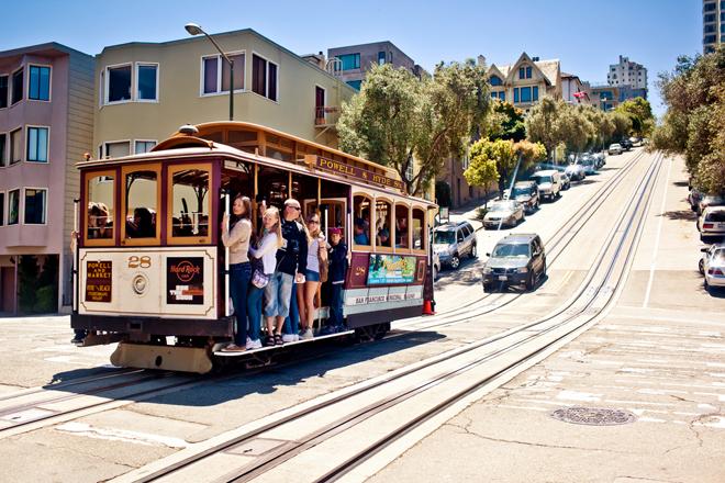 Le mythique tram de San Francisco aux Etats-Unis