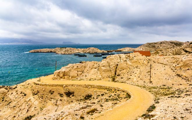 L'île de Pomègues dans l'Archipel du Frioul au large de Marseille