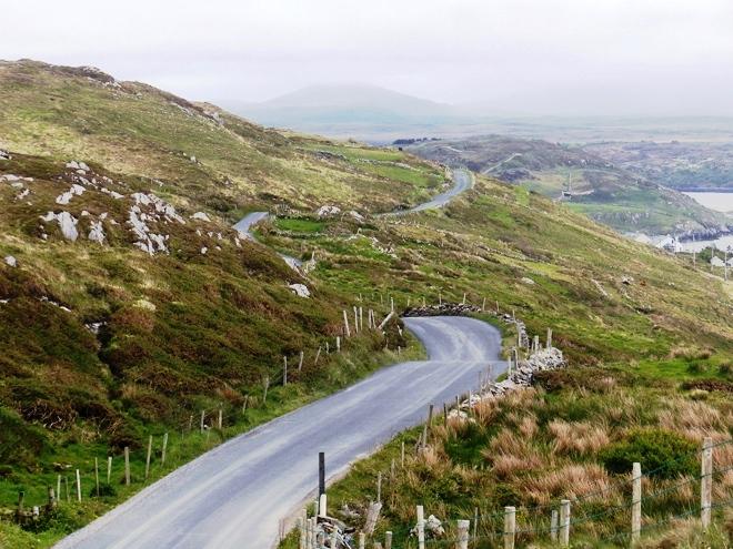 La magnifique Sky Road dans le Connemara en Irlande