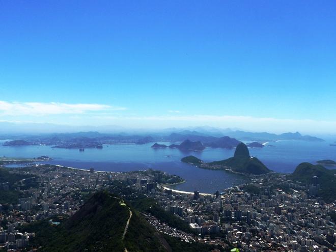 Vue sur Rio de Janeiro depuis le sommet du Corcovado