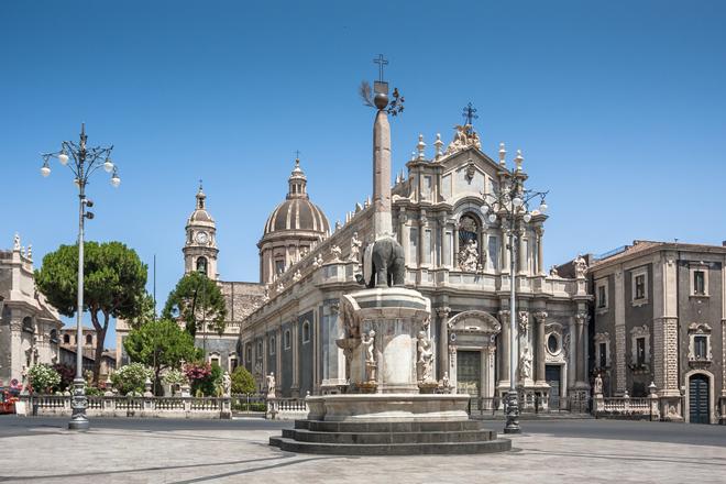 La piazza del Duomo à Catane