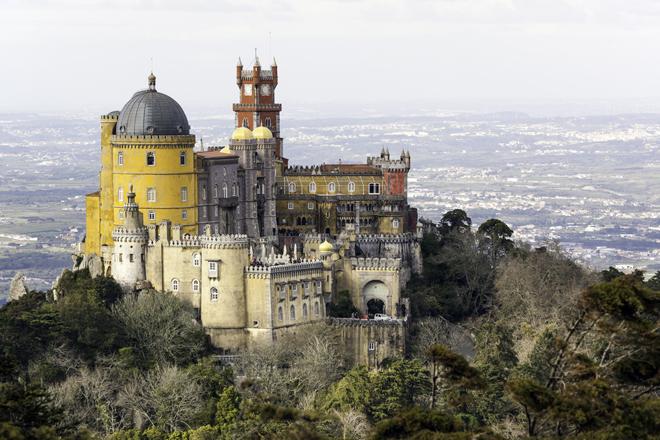Le palais da Pena à Sintra près de Lisbonne