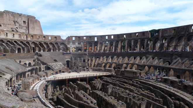 Lintrieur Du Colise De Rome