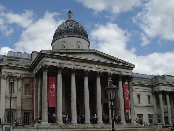 "La ""National Gallery"" sur Trafalgar Square (Londres)"