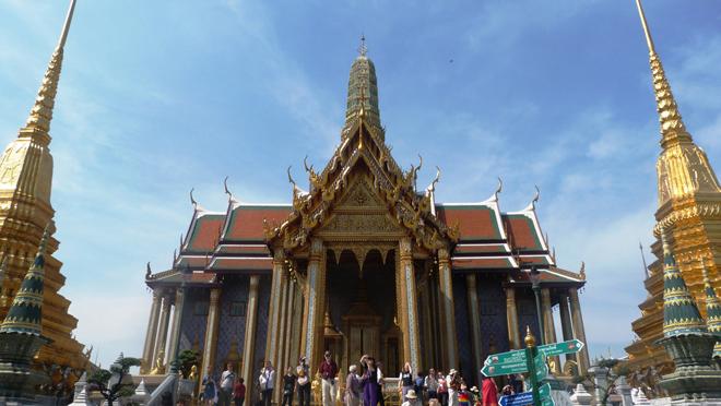 Le Wat Phra Kaeo, le temple du Bouddha d'émeraude