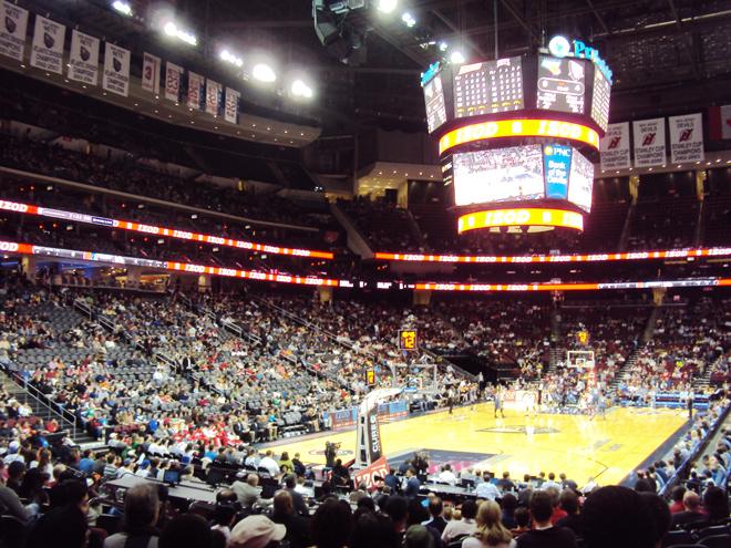 Ambiance de folie lors d'un match de nba (Brooklyn Nets VS Bobcats)