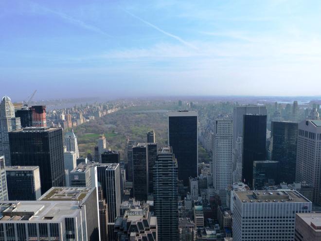 Vue sur Central Park depuis le sommet du Rockefeller Center