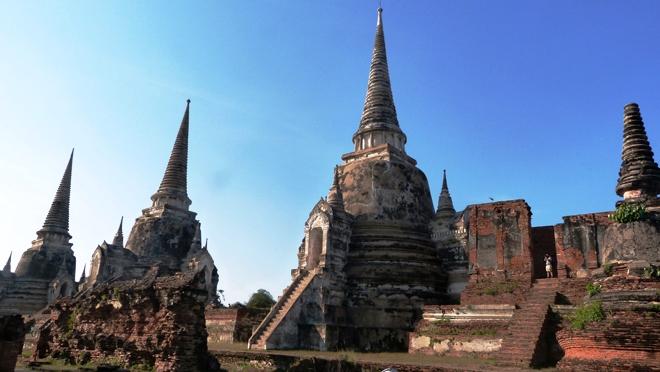 Quelques temples du parc archéologique de Ayutthaya