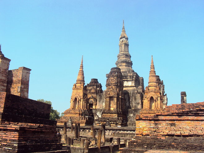 Le Wat Maha That, le plus grand temple de Sukhothai