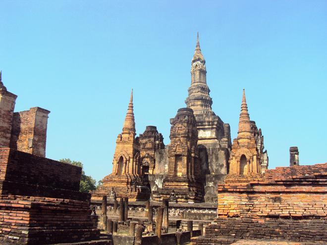 Le Wat Maha That, le plus grand temple de Sukhothai