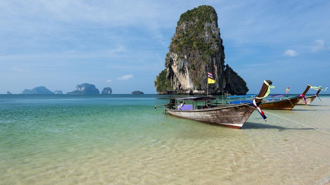 Phra Nang beach à Krabi en Thailande