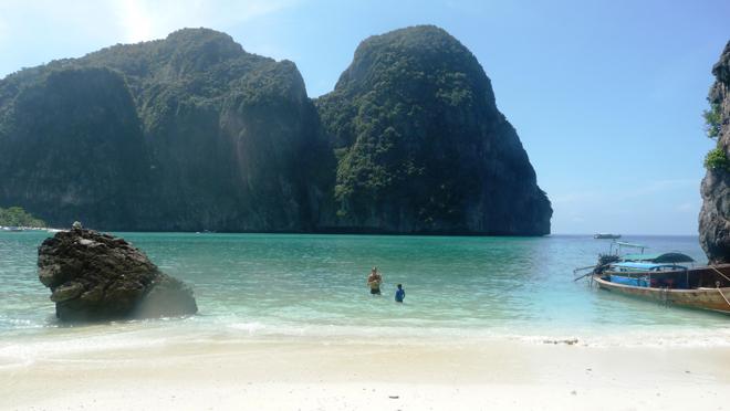 Une petite plage paradisiaque en Thailande
