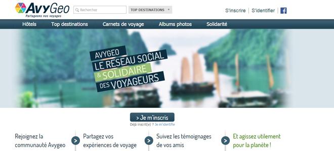 Avygeo le réseau social des voyageurs