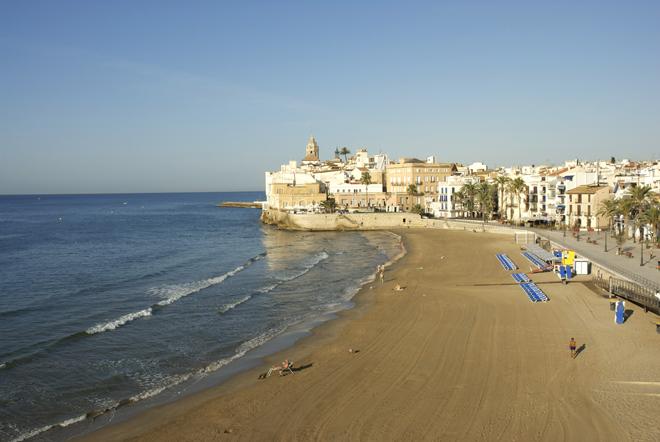 Une des plages de Sitges