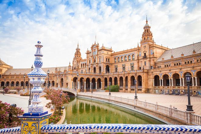 La magnifique Plaza de España à Séville