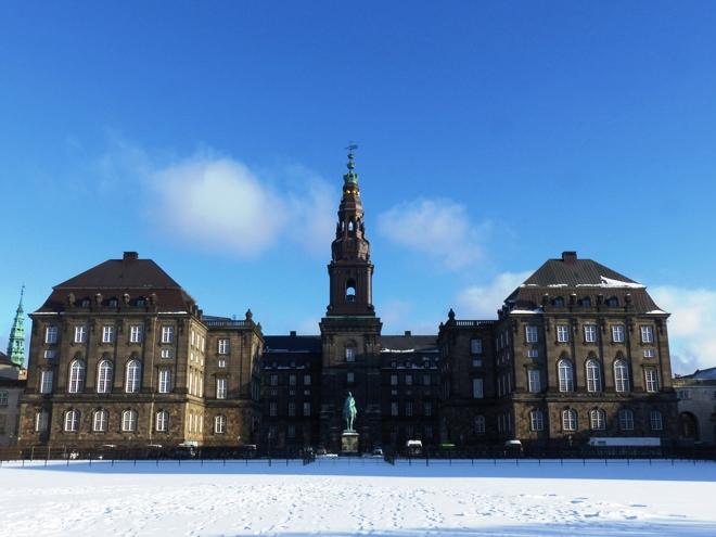 Christiansborg Slot, un des palais royaux de Copenhague et le centre politique du Danemark