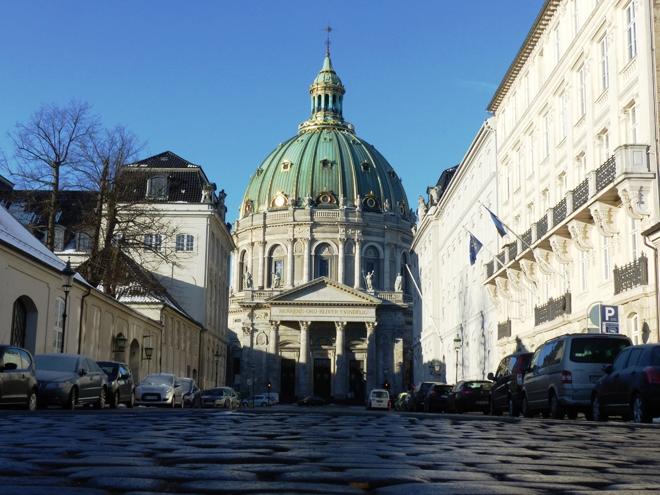 Marmorkirken, l'église de marbre à Copenhague