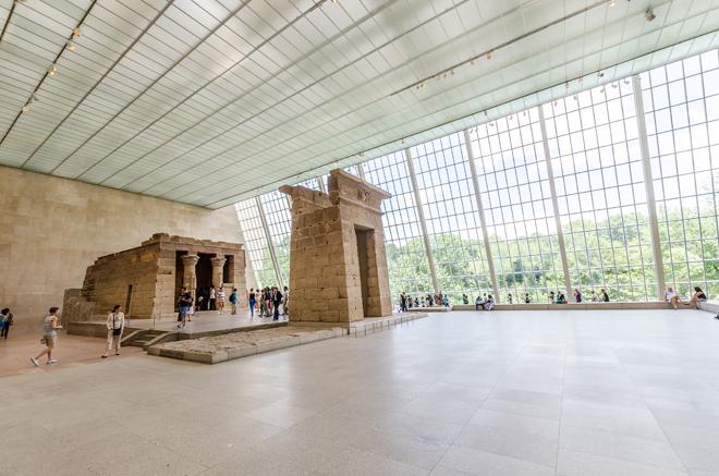Le temple de Dendour dans le Metropolitan Museum of Art de New York