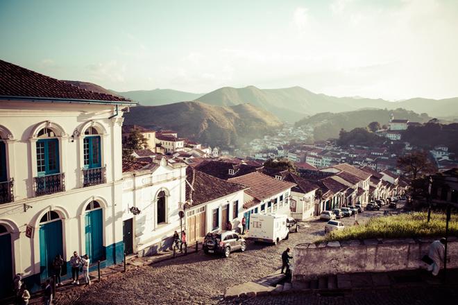 L'ancienne cité minière Ouro Preto près de Rio de Janeiro