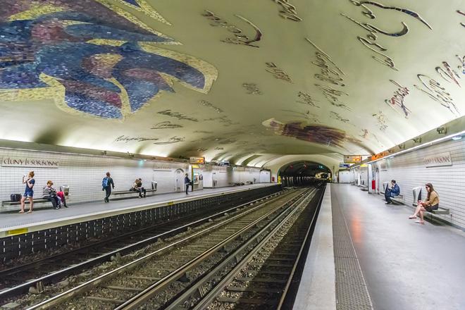 La station de métro Cluny - La Sorbonne à Paris