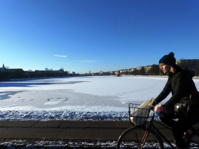 Même en hiver les danois font du vélo
