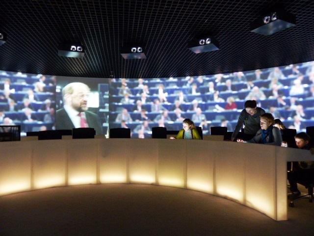 Projection à 360° dans le Parlement européen