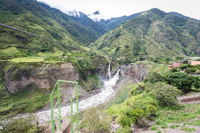 Les chûtes de Banos en Equateur