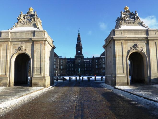 Le château de Christiansborg de Copenhague