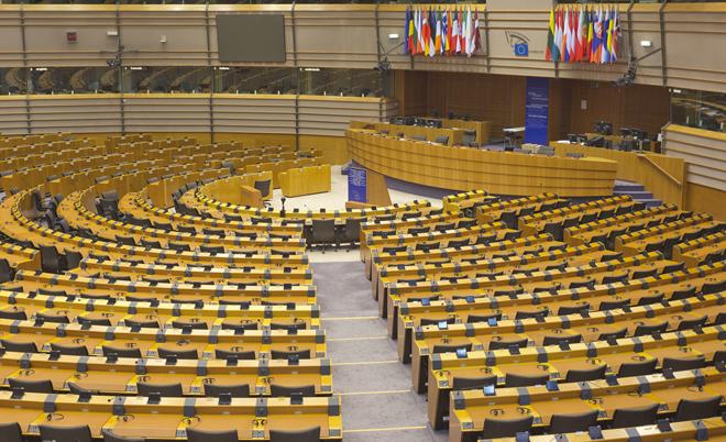 L'hémicycle du Parlement européen de Bruxelles