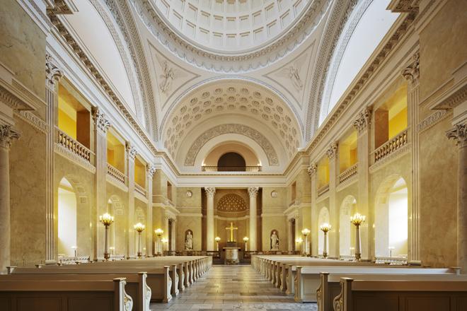 L'intérieur de la chapelle du chateau de Christiansborg