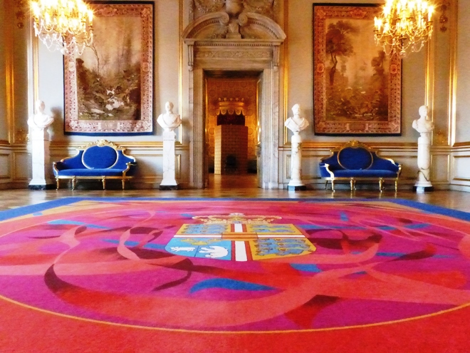 Salle royale du chateau de Christiansborg à Copenhague