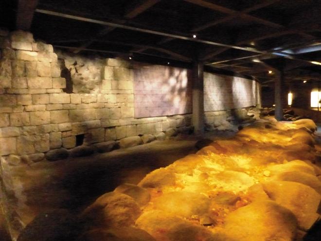 Les ruines des anciens chateaux de Christiansborg