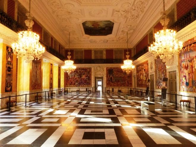 The Grand Hall la plus spectaculaire des salles du château de Christiansborg