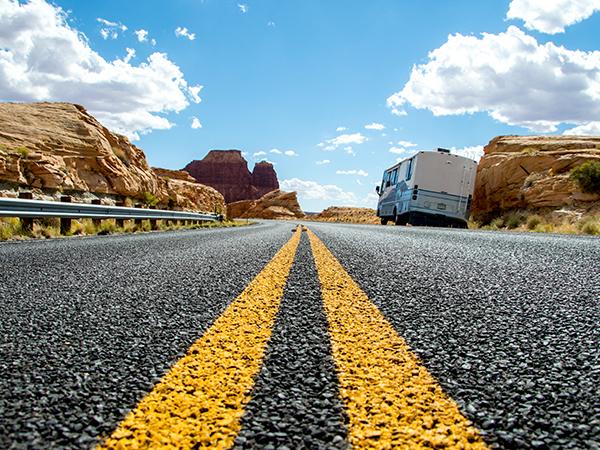 sur les routes australiennes en Van